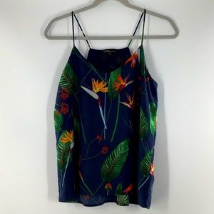 New Dalia Bird of Paradise Tank Size Small Blue